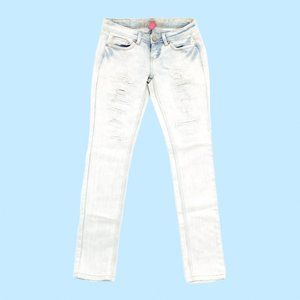 Almost Famous Jeans Women's 3 28 Blue Tapered Acid